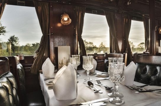 Enjoy a Dinner Journey through the National Park on a lovingly-restored steam train