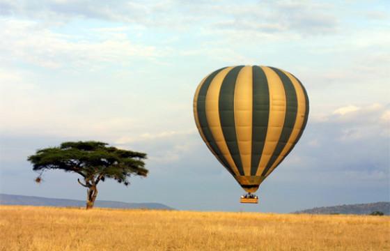 Get a bird's eye view of the savannah in a hot air balloon