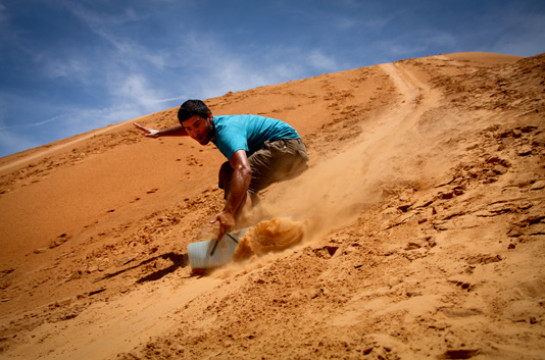 Get active in the adrenalin-charged desert dunes