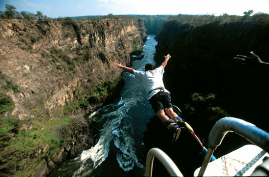 Hold your breath, and then Jump! – off the historic Victoria Falls Bridge