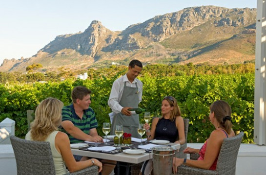 Relish the fine food and wine of the Cape Winelands