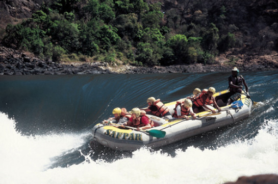 Ride the wild, white waters of the mighty Zambezi River