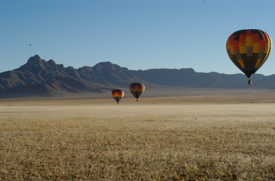 Take to the skies in a Hot Air Balloon over Sossusvlei