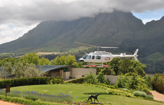 Take to the skies on a helicopter flight from Cape Town