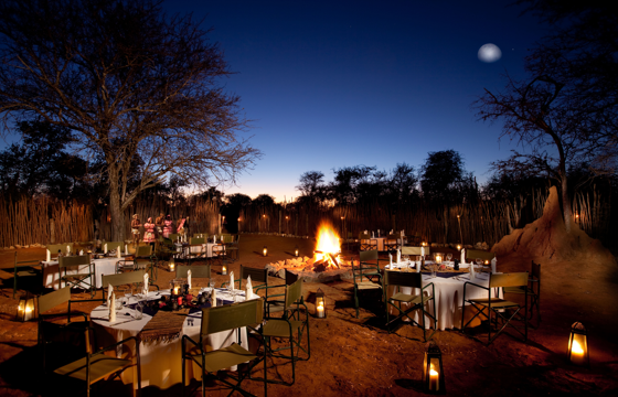 Celebrate with Boma, Bush or Airstrip gala dinners (Etosha)