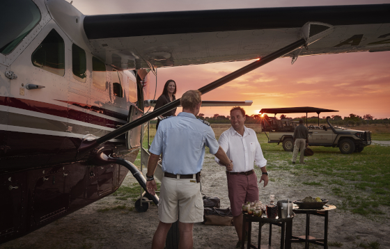 Take a private charter flight direct to the lodge airstrip