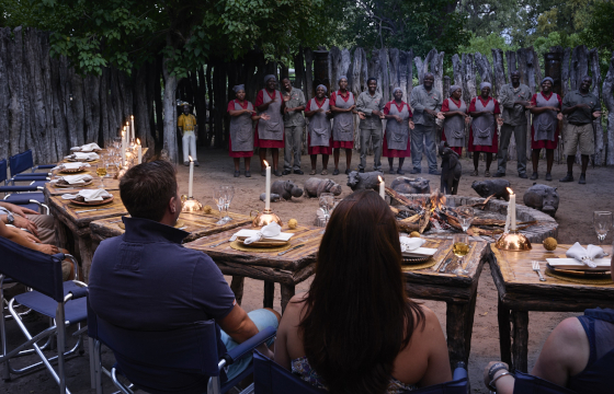 Dine under the dazzling African night-sky