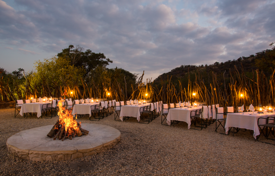 Celebrate with Boma, Bush or Airstrip gala dinners (Pilanesberg)