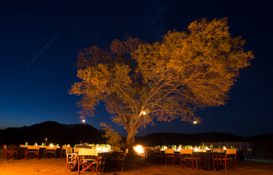 Dine under the dazzling African night-sky (Pilanesberg)